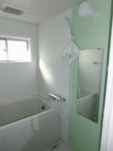 グリーンカラーのお風呂