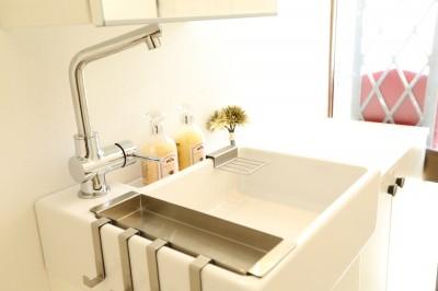 玄関に手洗い場を設置