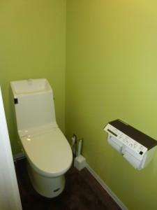 癒しカラーのトイレ